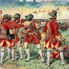 British 25th Foot at Minden in the Seven Year's War