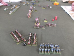 Austrian heavy cavalry rolling up the British flank