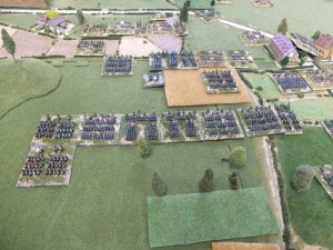 The very steady French left flank